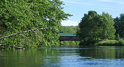 Covered bridge over the Ashuelot River at Ashuelot River Campground