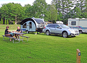 Campers of all sizes accommodated at Ashuelot River Campground