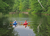 Kayaking on the Ashuelot River at Ashuelot River Campground