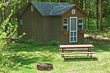 Maple Cabin Exterior at Ashuelot River Campground